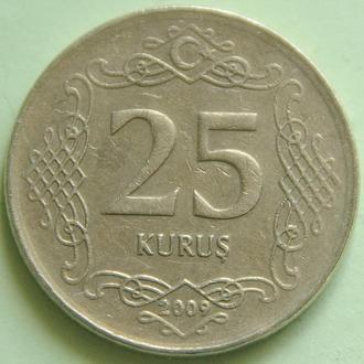 (А) Турция 25 курушей 2009