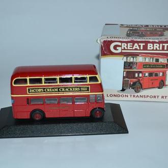 новая модель london transport rtw double great british buses масштаб 1:76 Англия винтаж