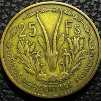 Французская Западная Африка 25 франков 1956 год СОХРАН!!!