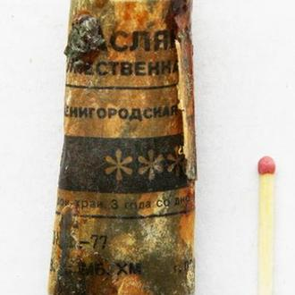 Краска масляная художественная. Звенигородская черная.