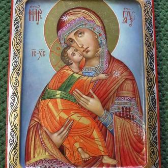 Богородица Владимирская Матерь Божия Владимирская икона писанная
