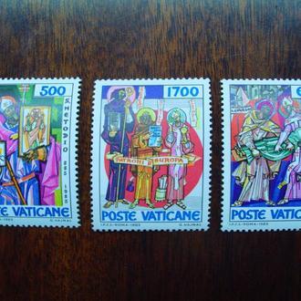 Ватикан.1985г. Кирилл и Мефодий. Полная серия. MNH