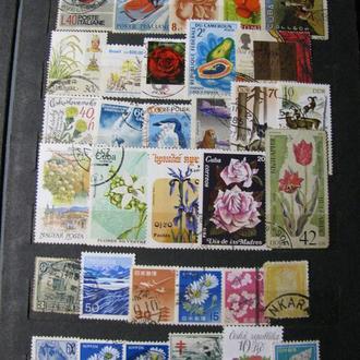 Альбом з марками 350 шт Набір марок 1