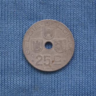 Бельгия  25 сантим 1945 г