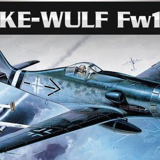 """Самолет FW-190D Academy ACA 1660 в 1:72 + колеса """"Эльф"""""""