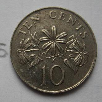 СИНГАПУР 10 центов 1986 года.