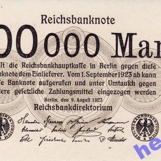 AUNC 200000 марок Германия 1923  редкая