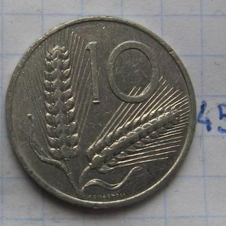 ИТАЛИЯ, 10 лир 1982 года (кукуруза).