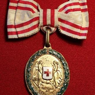 """Австро-Венгрия Бронзовая медаль с """"Военным Отличием"""" для женщин.Супер состояние."""