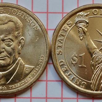 1 доллар, 36 президент США Линдон Джонсон, 2015 г