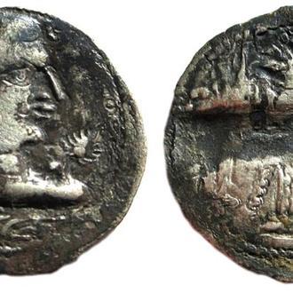 Иранские Гунны. Алхоны \ Алханы. AR драхма. Правитель Хингила. 440-490 AD
