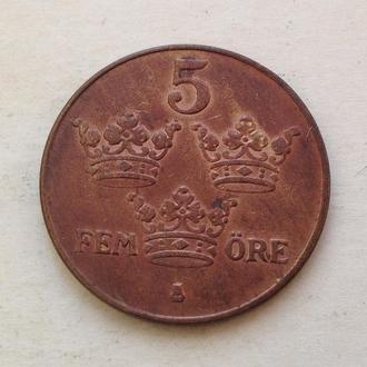 5 эре, 1934 г, Швеция