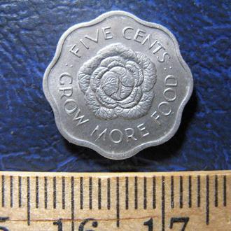 Сейшельские острова 5 центов 1975 гю