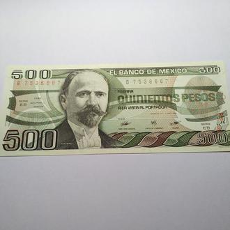 Мексика, 500 песо, 1984 пресс, unc, оригинал