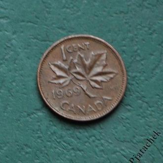 Канада 1 цент 1969 г.