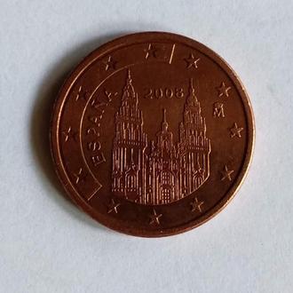 5 Евроцентов, Испания, 2008