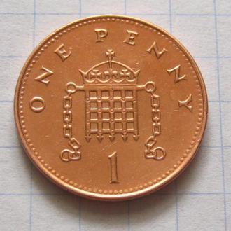 Великобритания_ 1 пенни 2000 года