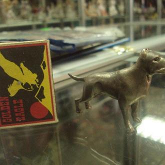 фигура серебро собака собачка борцовская американский стаффордширский терьер вес 97,15 г №22