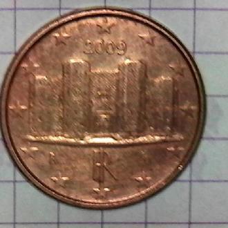 Италия 1 евроцент, 2009 Италия