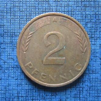Монета 2 пфеннига ФРГ 1994 А