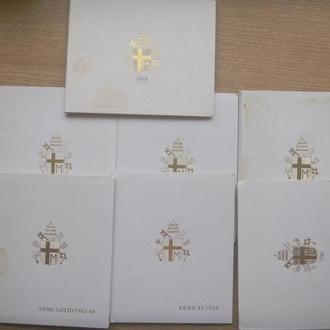 Буклеты от наборов монет Б/У (7 шт.)