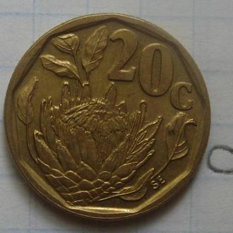 ЮАР, 20 центов 1992 года.