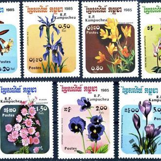 Камбоджа. Цветы (серия)** 1985 г.