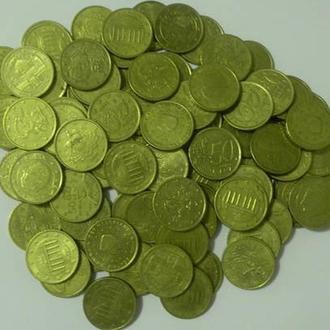 50 євроцентів 100шт (різні країни) суперлот, сума 50 євро