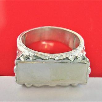 Кольцо перстень печатка новая серебро 925 проба 8,32 гр 18,5 размер Авторское