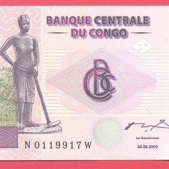 Боны Африка Конго 200 франков 2008 г.