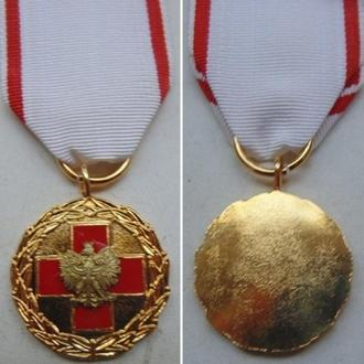 Польша. Медаль Красный крест (цвет золото)