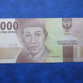 банкнота 5000 рупий Индонезия 2016 UNC пресс