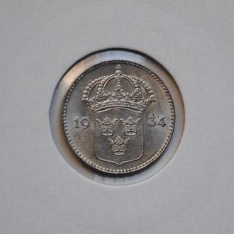 Швеция 10 эре 1934 г., UNC