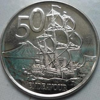 Новая Зеландия 50 центов 2006 парусник