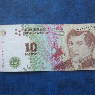 Банкнота 10 песо Аргентина 2016 Мануэль Бельграно 63244193 В