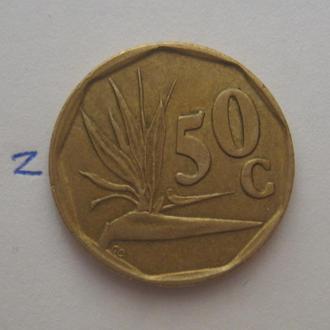 ЮАР 50 центов 1995 года.