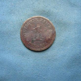 Германия 1 пфенниг 1900 год (А)