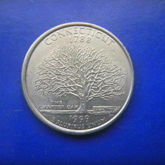 США 25 центов Коннектикут P 1999