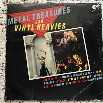LP Metal Treasures And Vinyl Heavies Accept Metallica Judas Prist  Ex  Англия