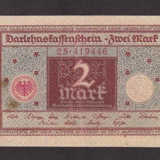 2 марки 1920г. Германия.
