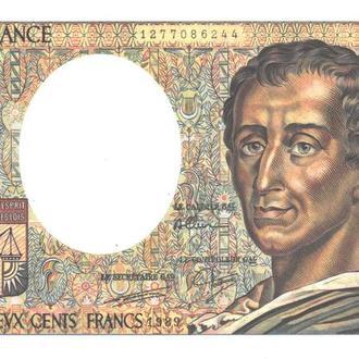 Франция 200 франков 1989-90г. в UNC