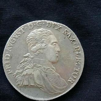 Таллер Серебро Талер Саксония 1796 Резерва нет!
