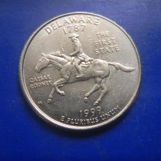 США 25 центов Делавэр P 1999