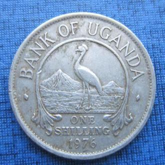 монета 1 шиллинг Уганда 1976 фауна птица