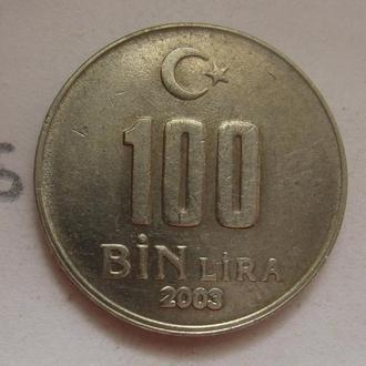 ТУРЦИЯ 100000 лир 2003 года