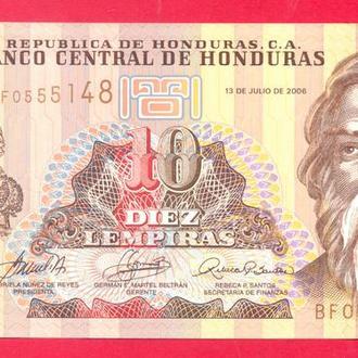 Боны Америка Гондурас 10 лемпир 2006 г.