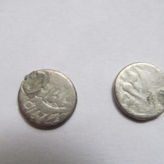 Бухара  2  монеты   с  подвески  ( таньги )  конец XIX  века