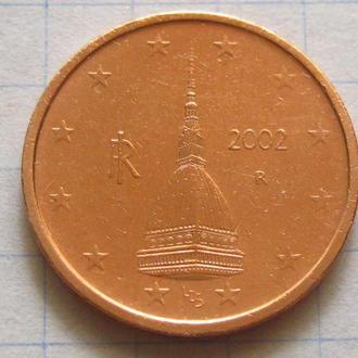 Италия_ 2 евро цента 2002 года  оригинал