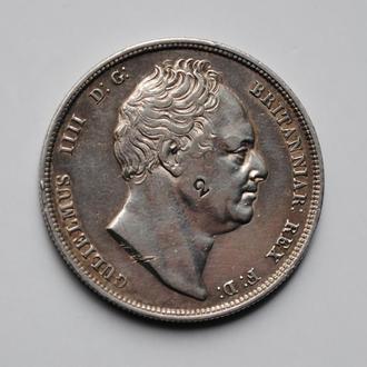 Великобритания ½ кроны 1836 г., VF-XF, 'Король Вильгельм IV (1831 - 1837)'