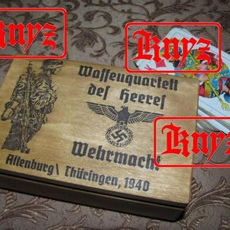 """Футляр для игральных карт """" für die Wehrmaht """""""